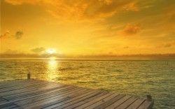 Beach Sunrise Horizon Wallpapers
