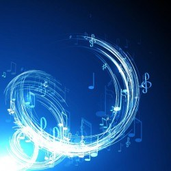 Abstract music background blue style vector 06
