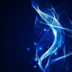 Abstract music background blue style vector 05