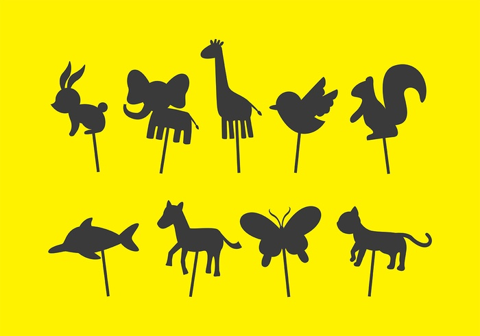 Animal Shadow Puppet Vectors