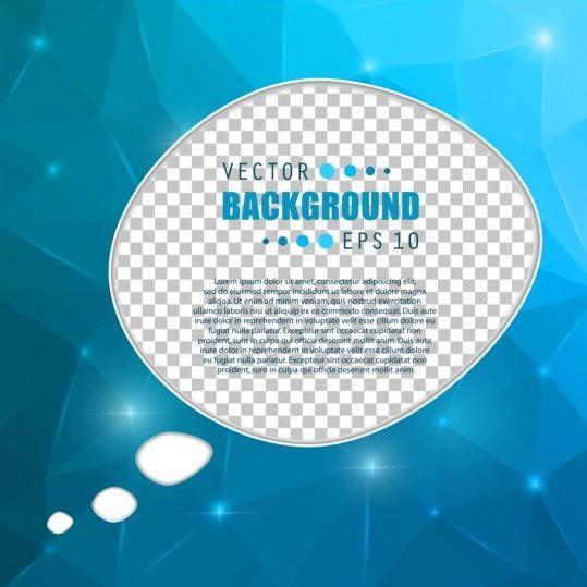 Blue polygon brochure cover template illustration vector 12