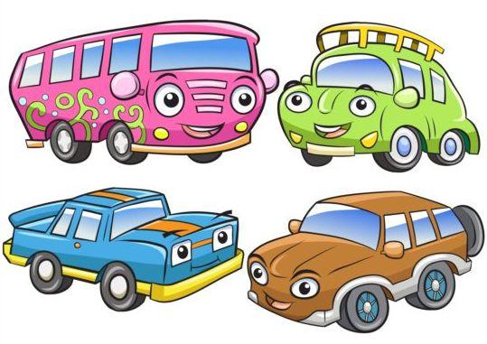Cartoon big car vectors