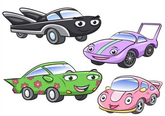 Cartoon sport car vectors
