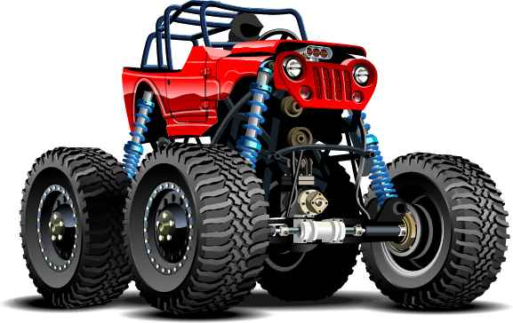 Cartoon sport utility vehicle vector 15