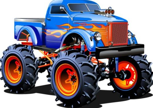 Cartoon sport utility vehicle vector 12