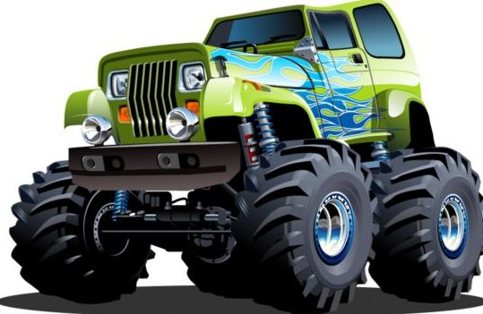 Cartoon sport utility vehicle vector 10