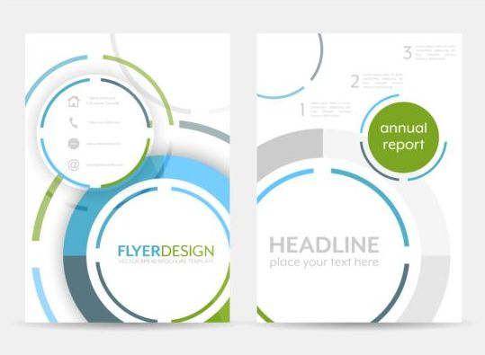 Circular flyer cover creative vector 06