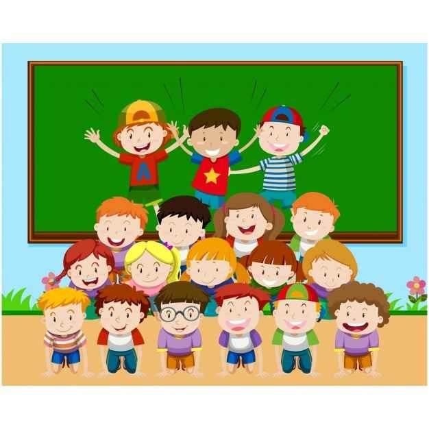 Classroom background design