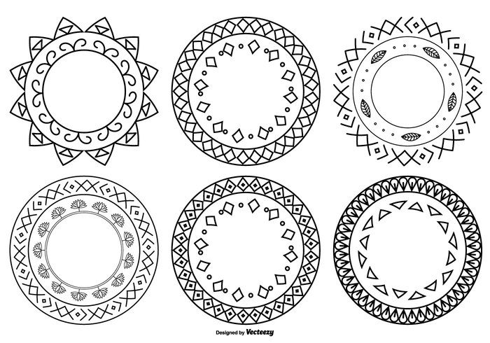 Cute Hand Drawn Style Frames