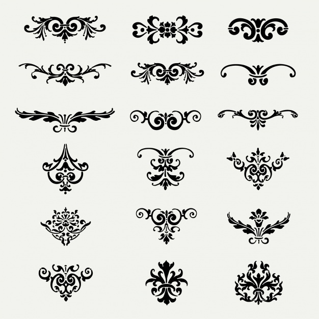 Decorative ornaments collection