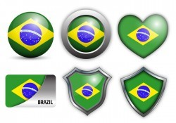 Free Brazil Flag Icons Vector