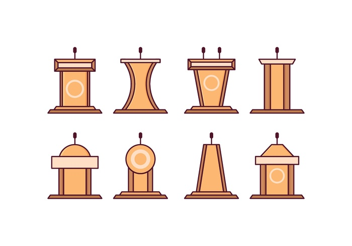 Free Lectern Vector Pack