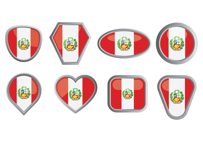 Free Peru Flag Icons Vector