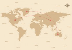Free Traveling World Map Vector