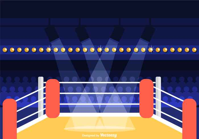Free Wrestling Ring Vector Illustration