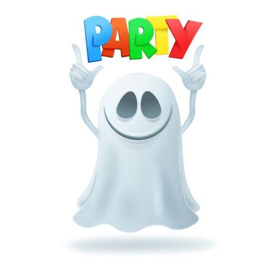 Halloween ghost design vector material 14