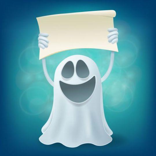 Halloween ghost design vector material 08