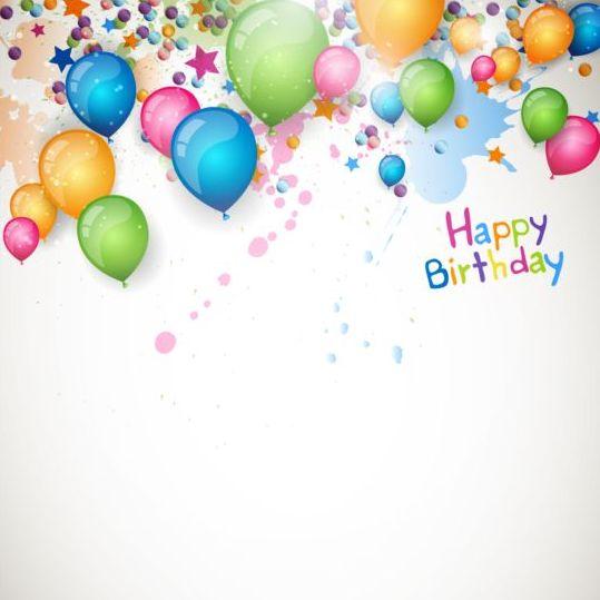 Happy birthday grunge background with balloon vector