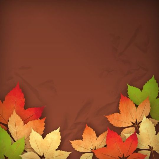 Harvest season with brown background vectors 04