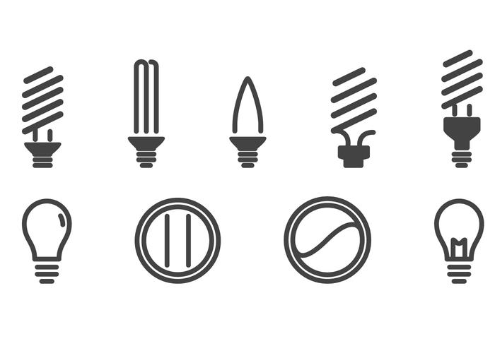 Light Bulbs Icons Set