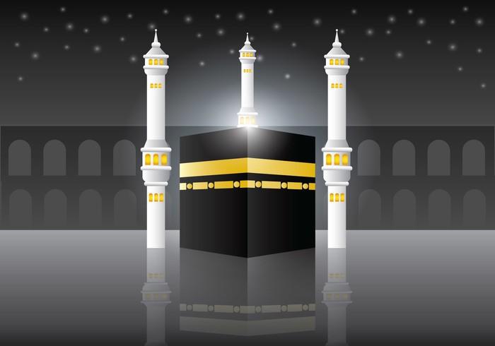 Makkah Al-Mukaram Vector Background