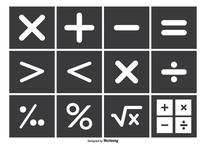 Math Vector Symbol Set