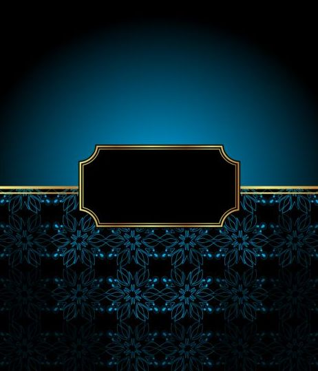 Ornate decor background with retro frame vectors 05
