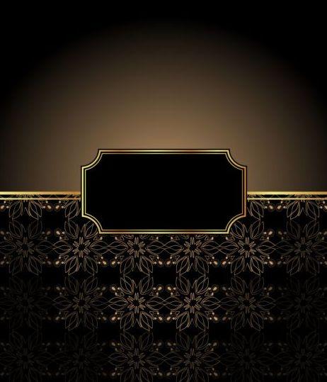 Ornate decor background with retro frame vectors 06