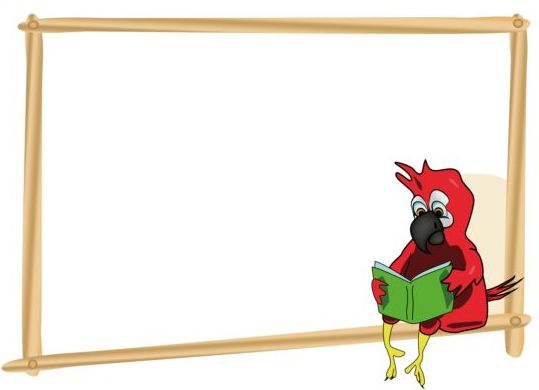 Parrot with text frame vector 01