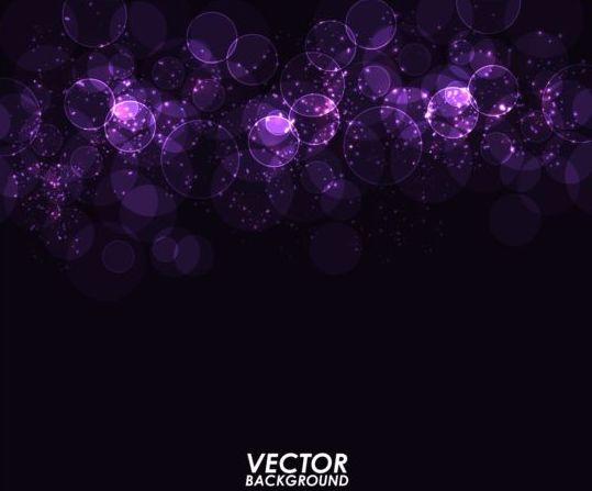 Purple light circle dream background vector 01