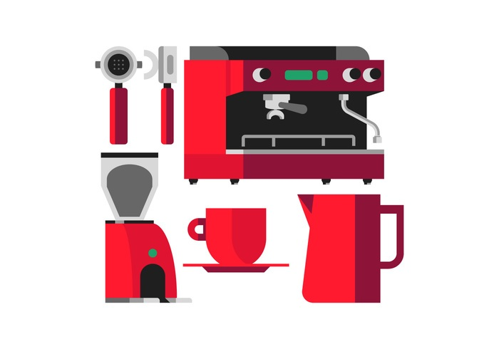 Vector Coffee Machine