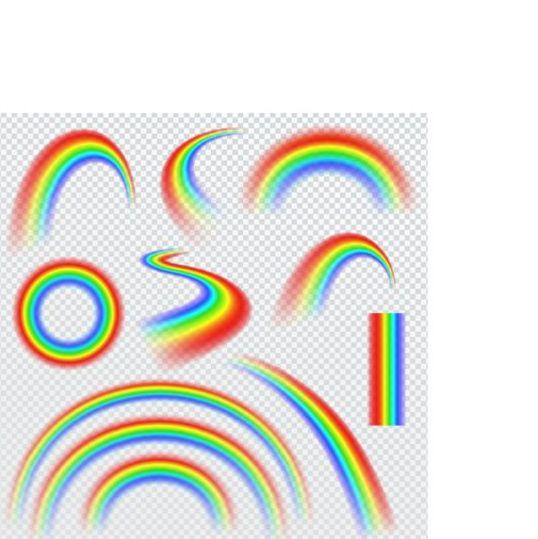 Vector rainbow illustration set 03
