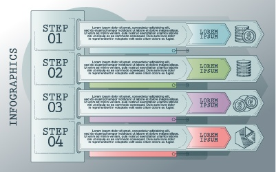 Vintage banners infographic template vectors set 09