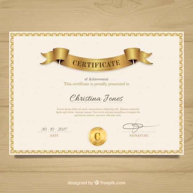 Vintage elegant diploma