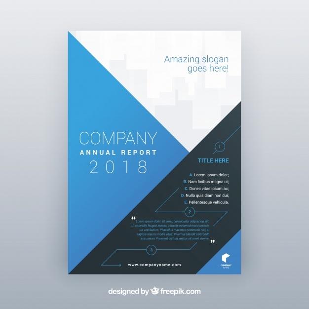 Abstract company brochure