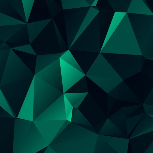 Abstract dark green polygonal background