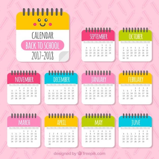 Beautiful 2017-2018 calendar
