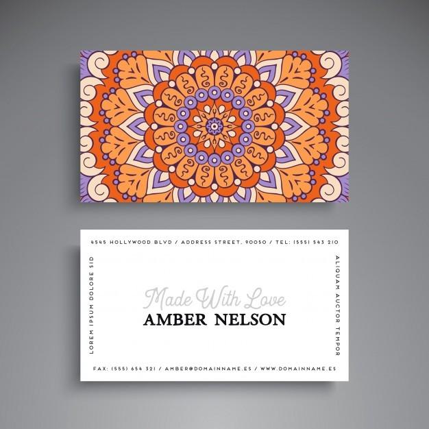Mandala style visiting card