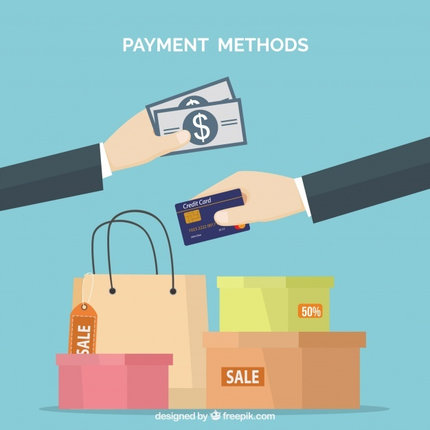 Payments, shopping bags and boxes