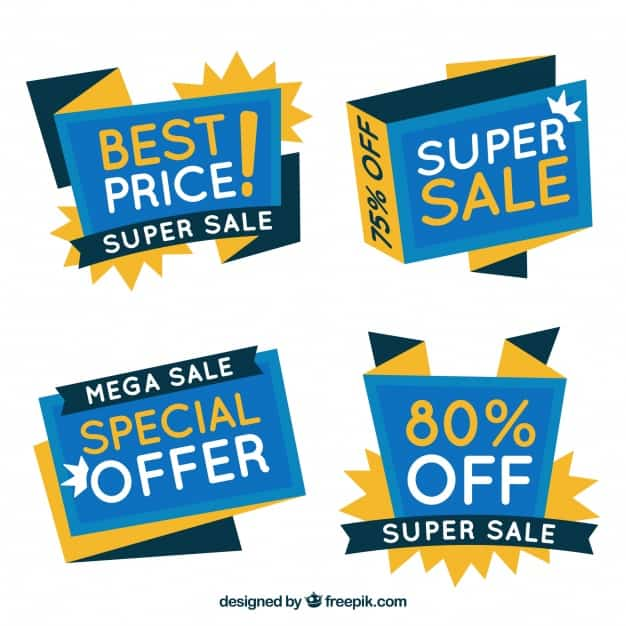 Set of abstract offer banners