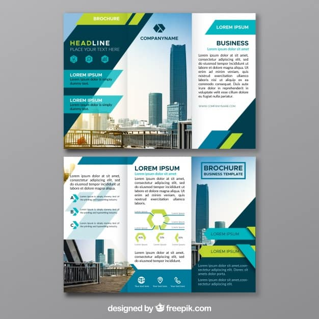 Triptych of abstract business forms