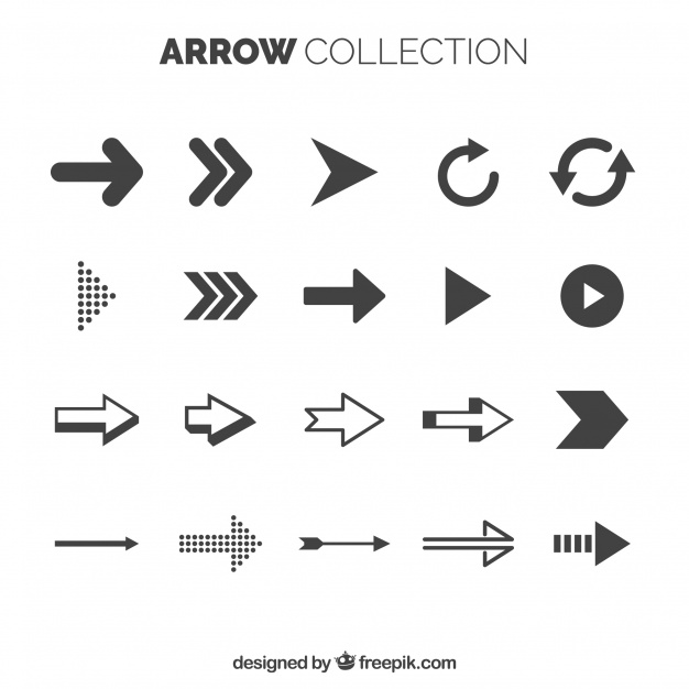 Basic arrow collection with elegant style Vector | Free Download