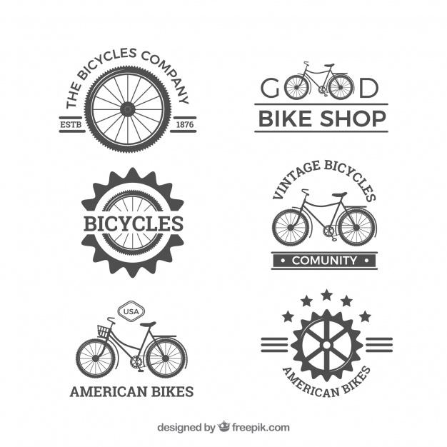 Original pack of vintage bike logos