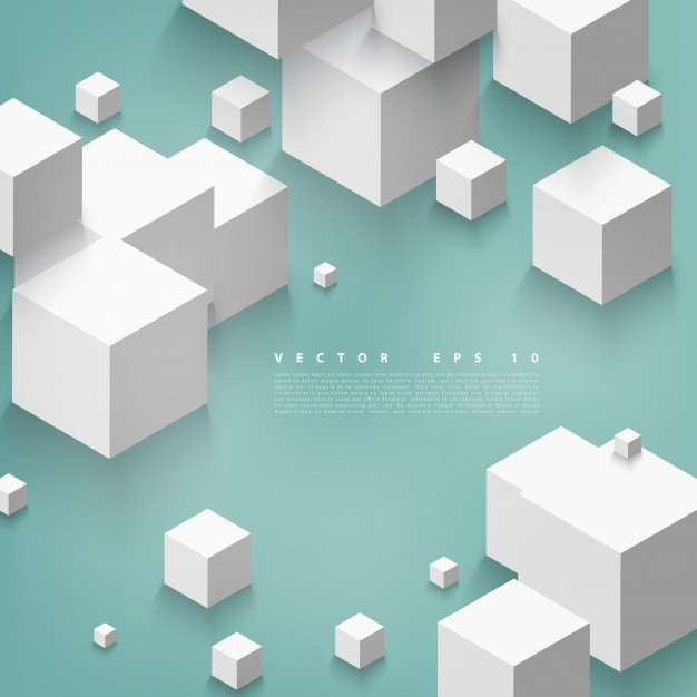 Vector Abstract geometric shape from gray cubes
