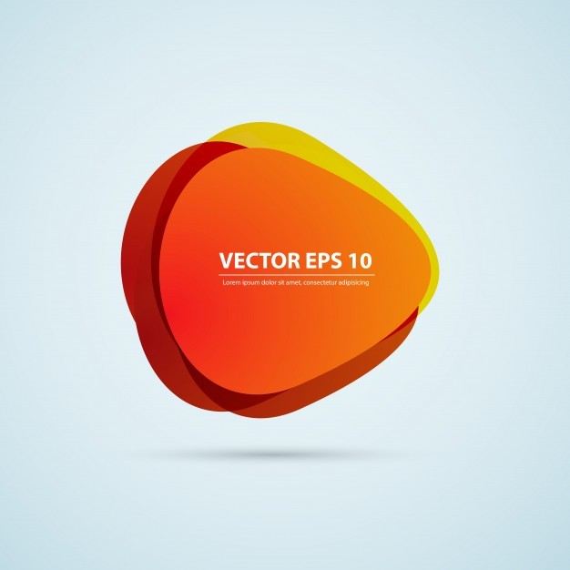 Vector color background abstract circles