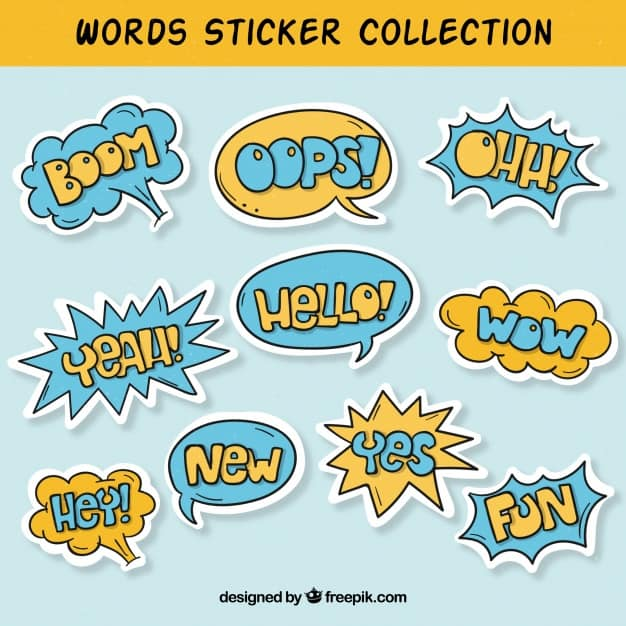 Word sticker collection