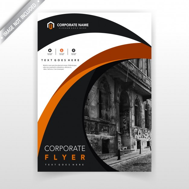 Annual report cover vector illustration template