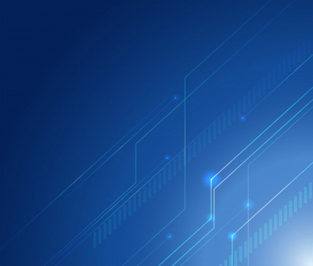 Background design with lines on blue background