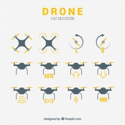 Basic variety of flat drones