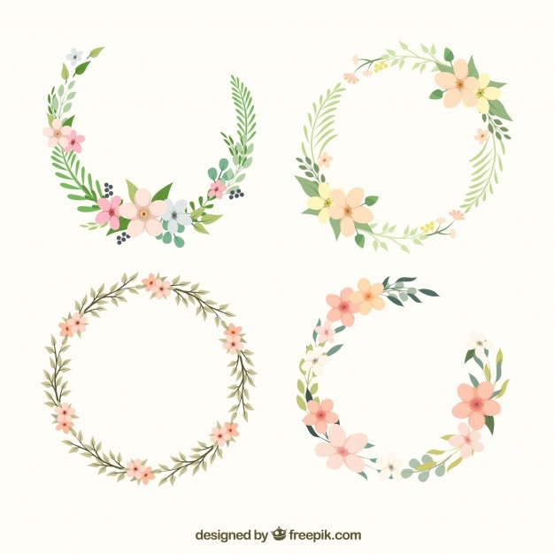 Beautiful floral wreath
